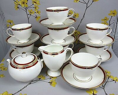 Exquisite Wedgwood bone china COLORADO Tea / Coffee Set / Service for 8 people.