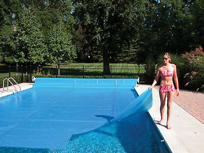 24' Round Supreme Swimming Pool Solar Heater Blanket Cover w/Grommets-12 Mil