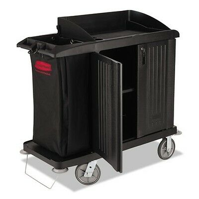 Rubbermaid® Commercial Multi-Shelf Cleaning Cart RCP 6192 BLA