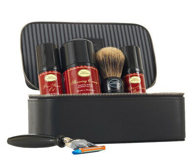 The Art of Shaving Travel Kit Sandalwood Essential Oil 5pc Set With Leather Case