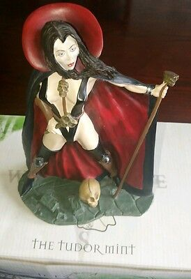 Underworld Sorceress in cloak & boots with staff Tudor Mint boxed bit risque