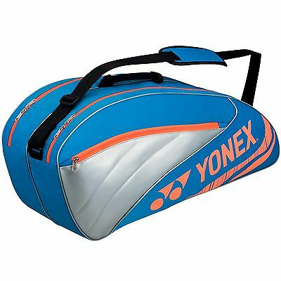 YONEX Performance Racket Bag Blue / Red 6 Rackets TENNIS 2Compartments Brand New
