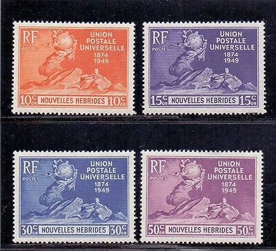 New Hebrides - French issues. Set of 4 LH Mint U.P.U. Anniversary stamps. 1949