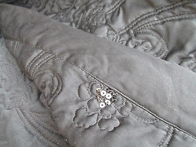 """Lawrence Lll-Bowen Black Bed Throw - Gorgeous - 78"""" X 78"""" Reversible"""