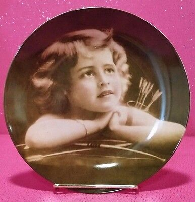 """Baum Bros Formalities 8"""" Collector Series """"cupid At Rest"""" Valentine Plate W/box"""