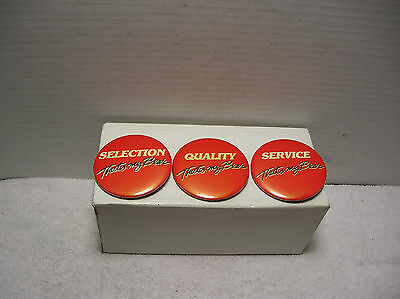 (3)Vintage Big Bear Super Market Pin Back Buttons  2 1/2""
