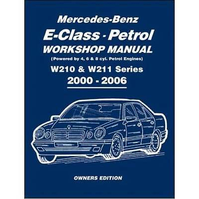 MERCEDES E-CLASS W210 W211 E 200 240 280 320 350 500 Owners Manual Handbook Book