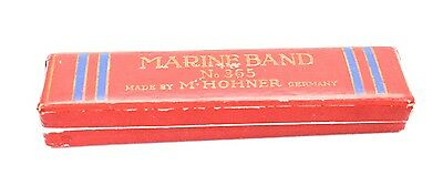Vintage Marine Band no. 365 M. Hohner Harmonica made in Germany (C) w/ box