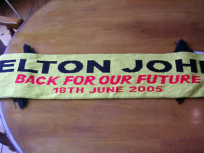 Elton John Back For Our Future Scarf Watford FC 18th June 2005
