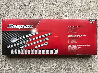 Snap On 1/2 Drive 17-Piece General Service Set Brand New 317AMMPC