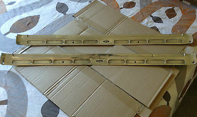 1965 1966 1967 1968 Door sill Plate Alluminium + Decal - Coupe Fastback Mustangs