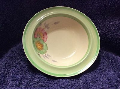 Clarice Cliff Green Cereal Bowl, Newport Pottery Co
