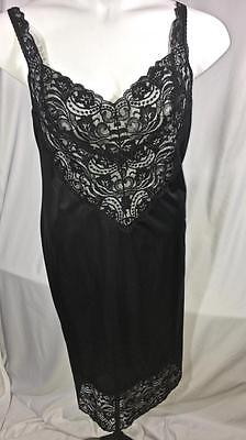 Vintage Vanity Fair Full Slip Black Size 42,  # 120603