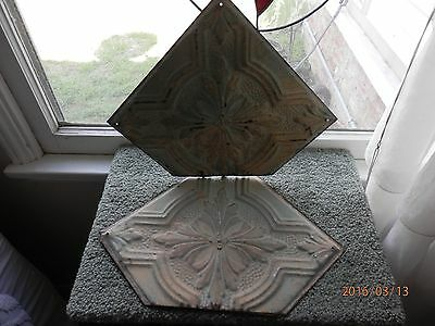 * SALE* Vintage Ceiling Tiles - Group of Three (3) Very Unique - Check Them Out