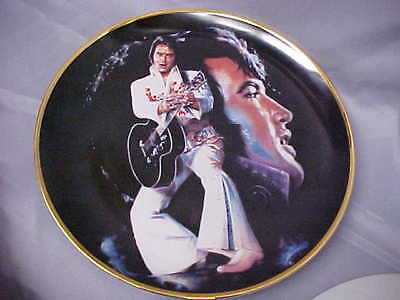 """Elvis Presley Limited Edt Plate """"THE KING"""" Art by Susie Morton 1s in series   e"""
