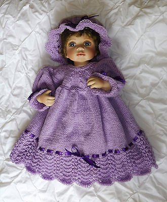 """NEW Knitted Doll's Set ~ 36-48cm or 14""""-19""""Doll ~ Baby Born, Reborn, Pedigree"""