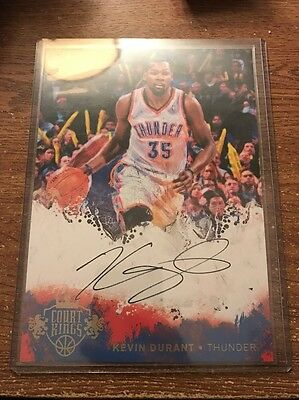 2014/15 Panini Court Kings Box Topper Auto Kevin Durant