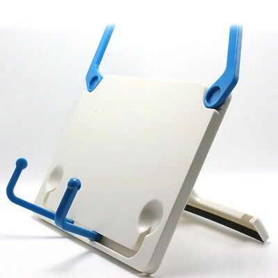 Portable Book Holder Folding Tablet Data Reading Bookend Clip Table Desk Support