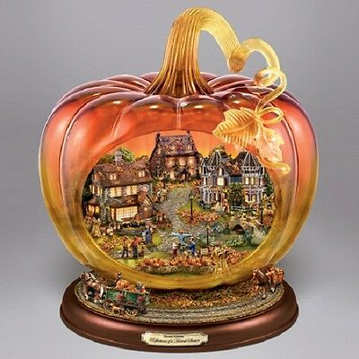 Crystal Pumpkin Reflections of the Harvest Thomas Kinkade