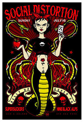 Scrojo Social Distortion Supersuckers Belly Up Aspen 2006 Poster SocialD_0607