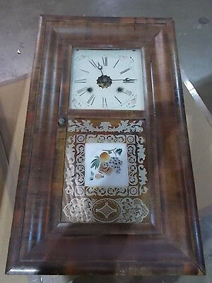 Ogee Wall Clock American Rosewood by E. N. Welch ##7477