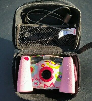 Fisher Price Kid Tough Pink Digital Camera Carrying Case Cord