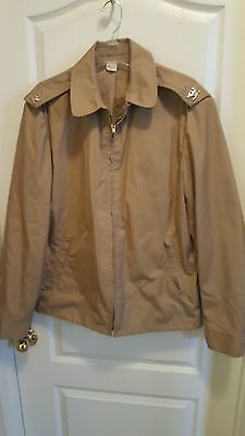 Us Navy Officer Khaki Windbreaker Jacket Captain Insignia Size 42 L