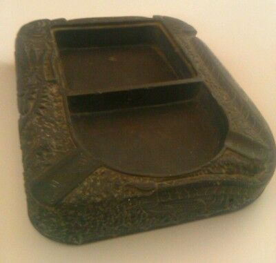 RARE Qing Dynasty Antique Chinese Calligraphy Ink Stone Hand Carved Dragon