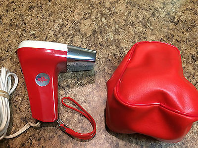 Vintage NOS DR PEPPER Mini Red Travel Blow Dryer Advertising Gift w/Case MINT