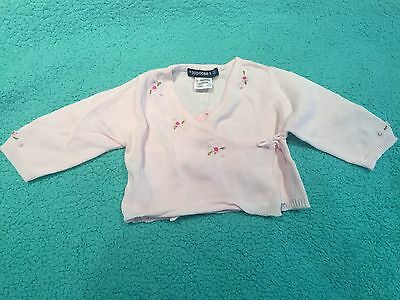 Gorgeous Papoose Pale Pink Cardigan Size 00