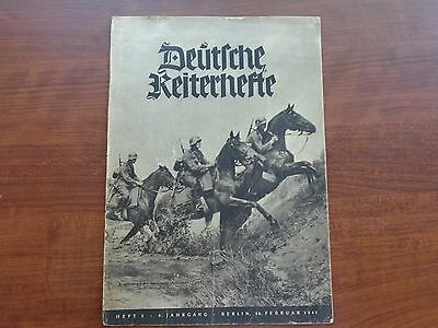 "Ww2 1941 Germany Cavalry Magazine~Horses In War~Wehrmacht ""deutfche Keiterhefte"""