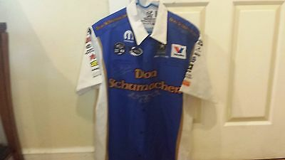 Fast Jack Beckman signed  Don Shoemacher tribute shirt NHRA