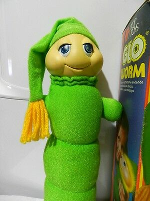Vintage Glo Glow Worm  Stuffed Animal Plush Brand Top Toys / 80's In Box Variant