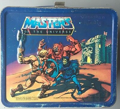 Collectable Masters Of The Universe Metal Lunch Box 1983