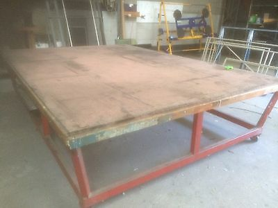 Glass Cutting Table And Free Fall Racks X 2