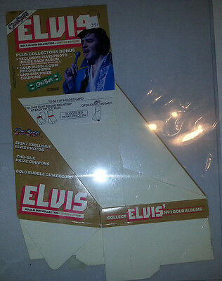 Elvis Presley 1981 Chu-Bops Gold Album Collection  Advertising Sales Display