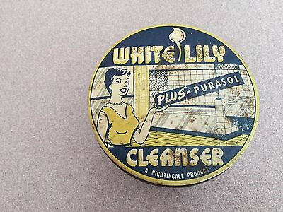 Vintage household cleanser tin - White Lilly
