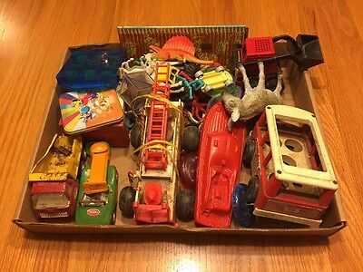 Vintage Fisher Price, Tonka, Plastic Figures And Misc. Lot Of Toys