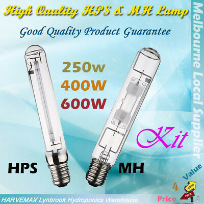 Grow Lamp HPS&MH Bulb Kit 250W/400W/600W Covers Hydroponic Growth Blooming Stage