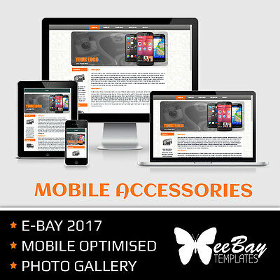 1 RESPONSIVE Auction Listing Template Professional Design for eBAY 2017 MOBILE