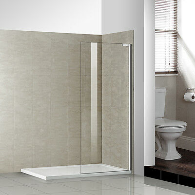 New walk in shower enclosure wet room screen panel cubicle 8mm tempered glass