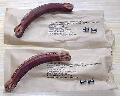 Two WWII original Leather Handles for BC-620 military radio & Willys Jeep - WW2