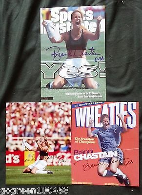 Brandi Chastain signed 8x10 photo US Soccer sexy World Cup soccer USA Olympics