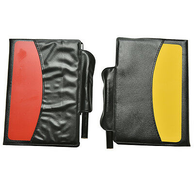 New Soccer Referee Wallet Red Card and Yellow Card Wallet Pencil Notebook SE