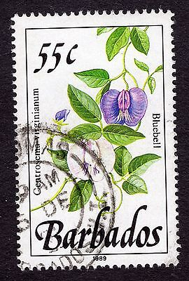 1989 Barbados 55c Bluebell SG898 FINE USED R32063
