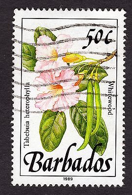 1989 Barbados 50c Whitewood SG928 FINE USED R32067