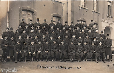 Postcard French Military group in uniform dated 1939 army France RP