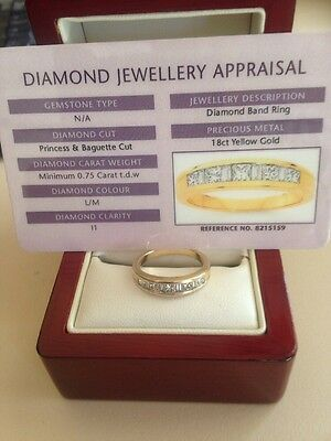 18ct gold and diamond engagement ring or anniversary band MARKED DOWN