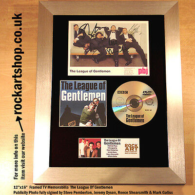 The League of Gentlemen PUBLICITY PHOTO SIGNED BY ALL 4 Autographed Framed WORLD