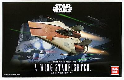 Bandai Star Wars A-Wing Star Fighter (Starfighter) 1/72 scale 063209